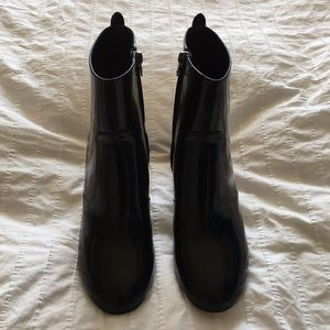 NWOT Coach Patent Leather Ankle Boots, sz 8.5